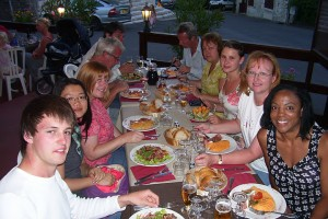 Dinner at Saint Bernards Brossac